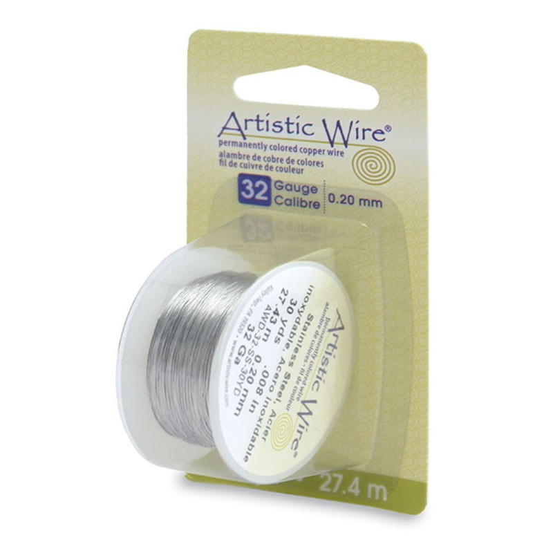 Stainless Steel Tarnish-Resistant Artistic Craft Wire 16-32GA Round Wire