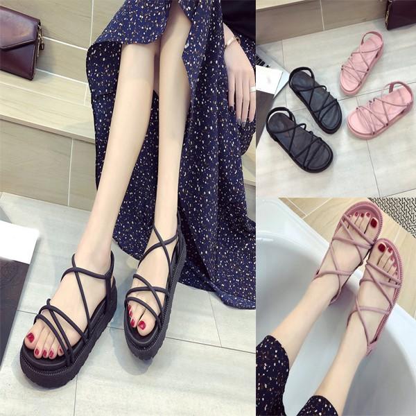 Flat Cross Student Sandals Roman Strap Women's Shoes 35RL4qScAj
