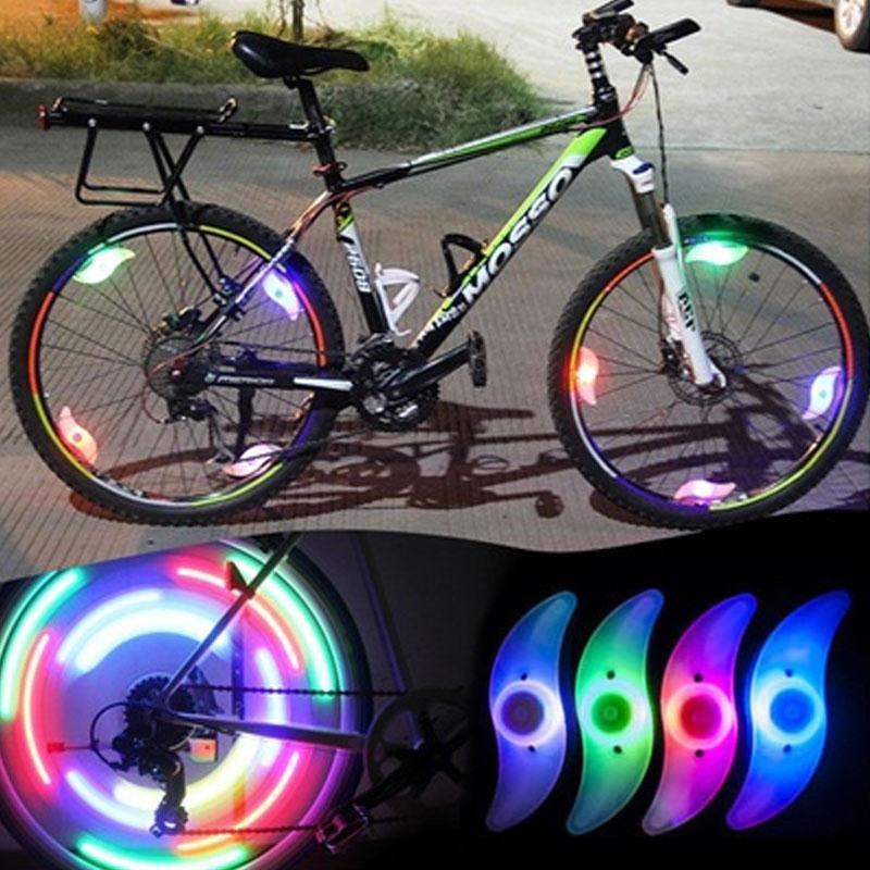 6pcs Multicolor Motor Cycling Bike Bicycle Tire Wheel Valve Flashing Spoke Light