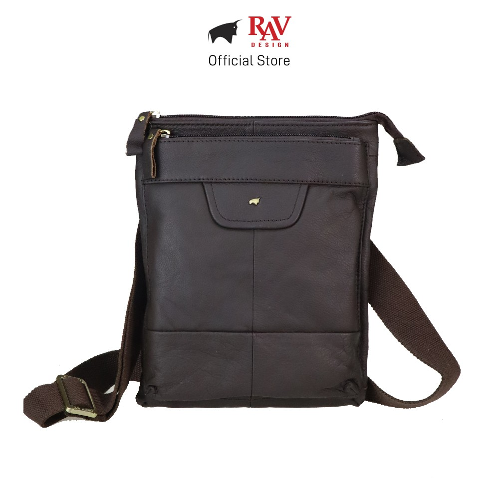 RAV DESIGN Genuine Cow Leather Sling Bag Brown |YRC053G1