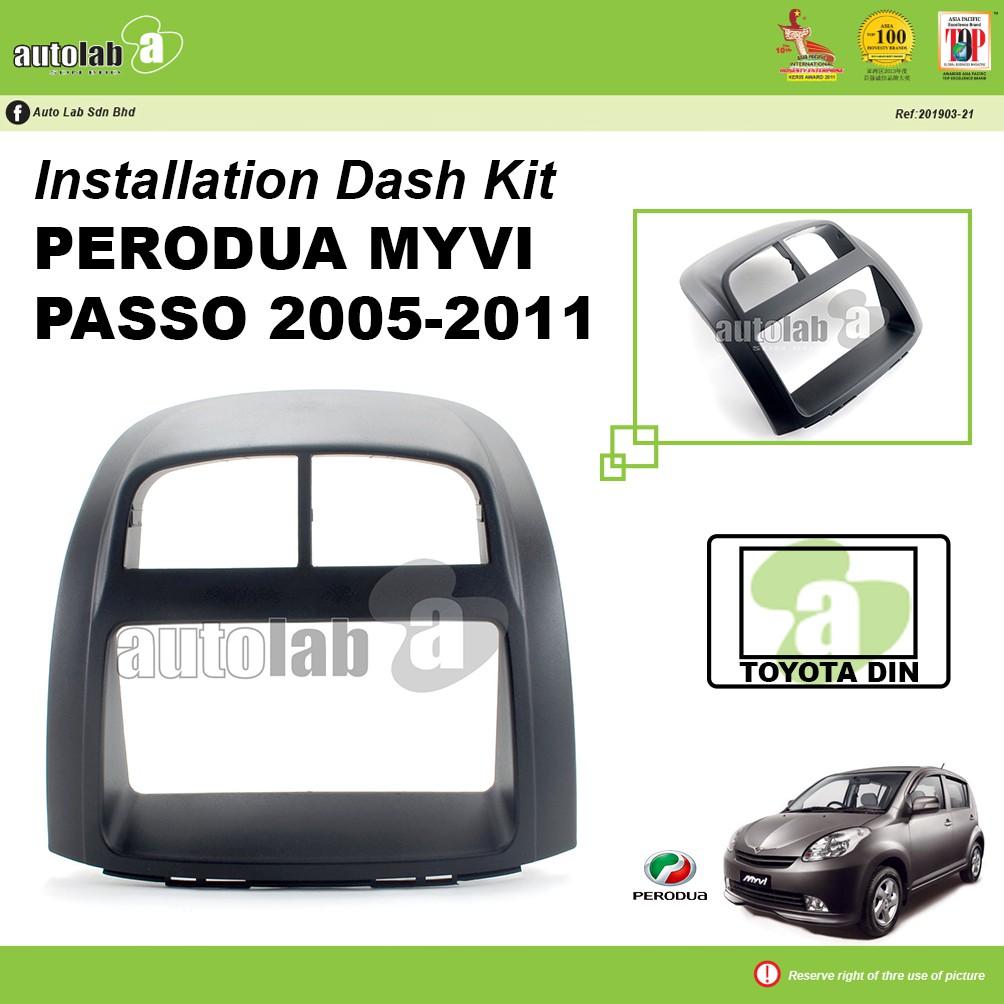 Player Casing Double Din (T) Perodua Myvi Passo 2005-2011