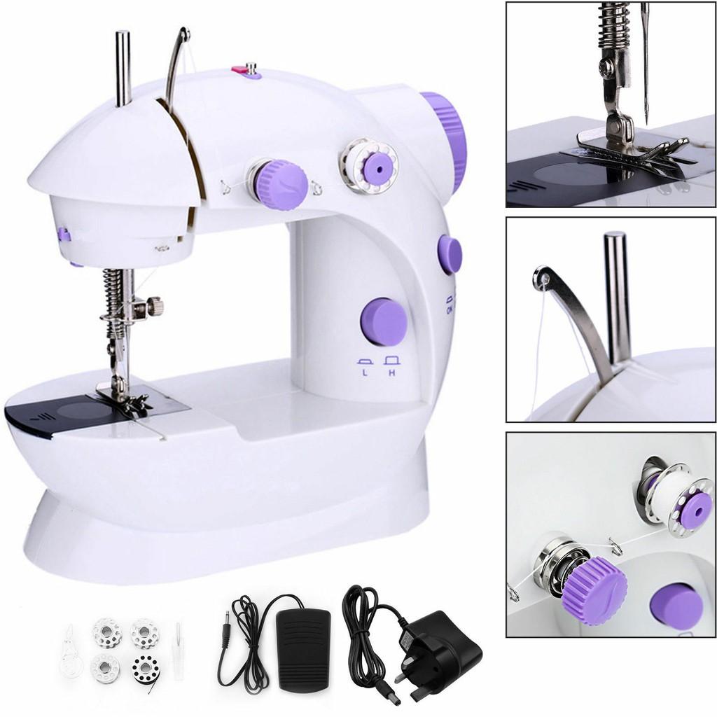 จักรเย็บผ้า ไฟฟ้า มินิ ขนาดพกพา Mini Sewing Machine จักรเย็บผ้าขนาดเล็ก พกพาสะดวก (สี
