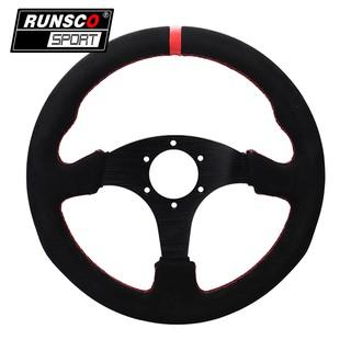 "330mm Black 2/"" Deep Dish PVC Steering Wheel /& Hub Adapter Honda Civic 96-00 EK"