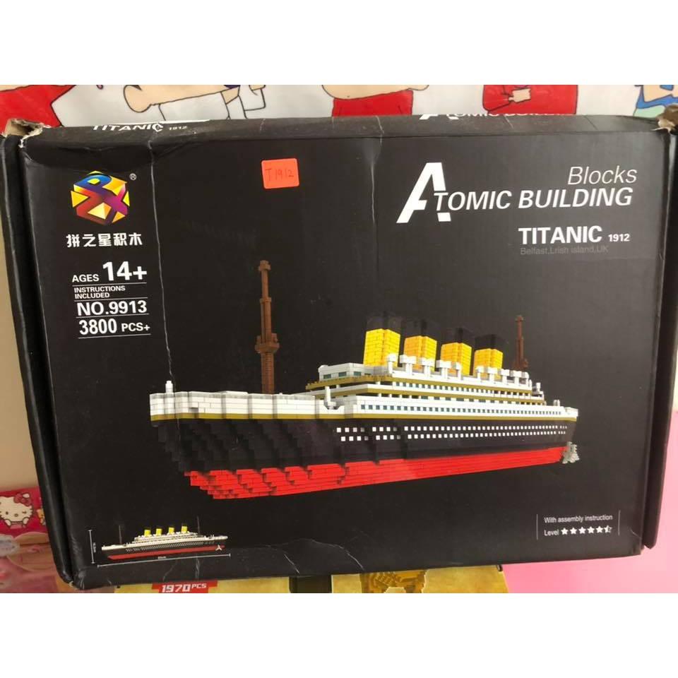 titanic lego 积木