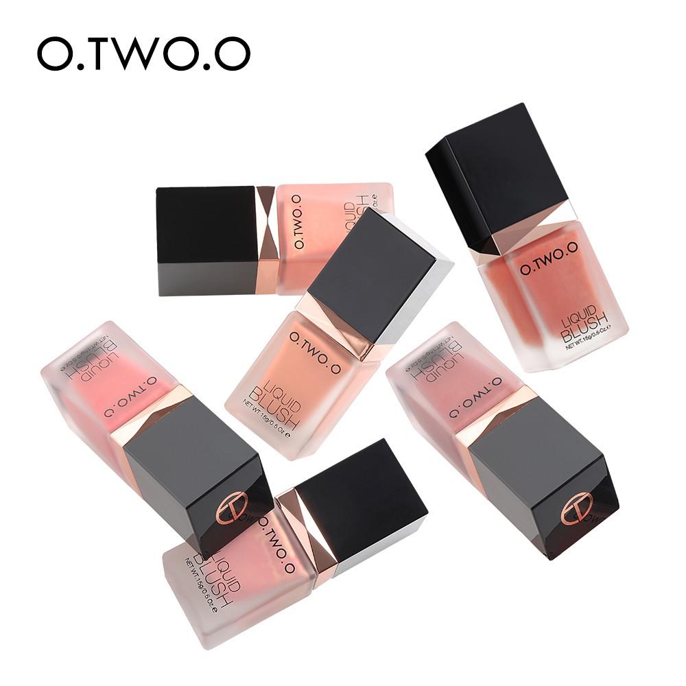 O Two O Blusher Sleek Silky 6 Color Natural Cheek Blush Face Make Up
