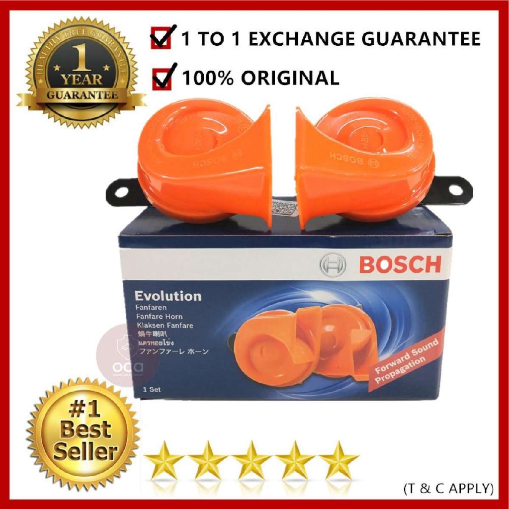 Bosch Evolution Fanfare Compact BM Twin Horn Set For (Set For 2) with Warranty