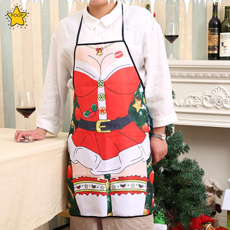 b7ee41456 Christmas Funny Apron Hotel Home Bar Kitchen Party Dress Decoration Gift    Shopee Malaysia