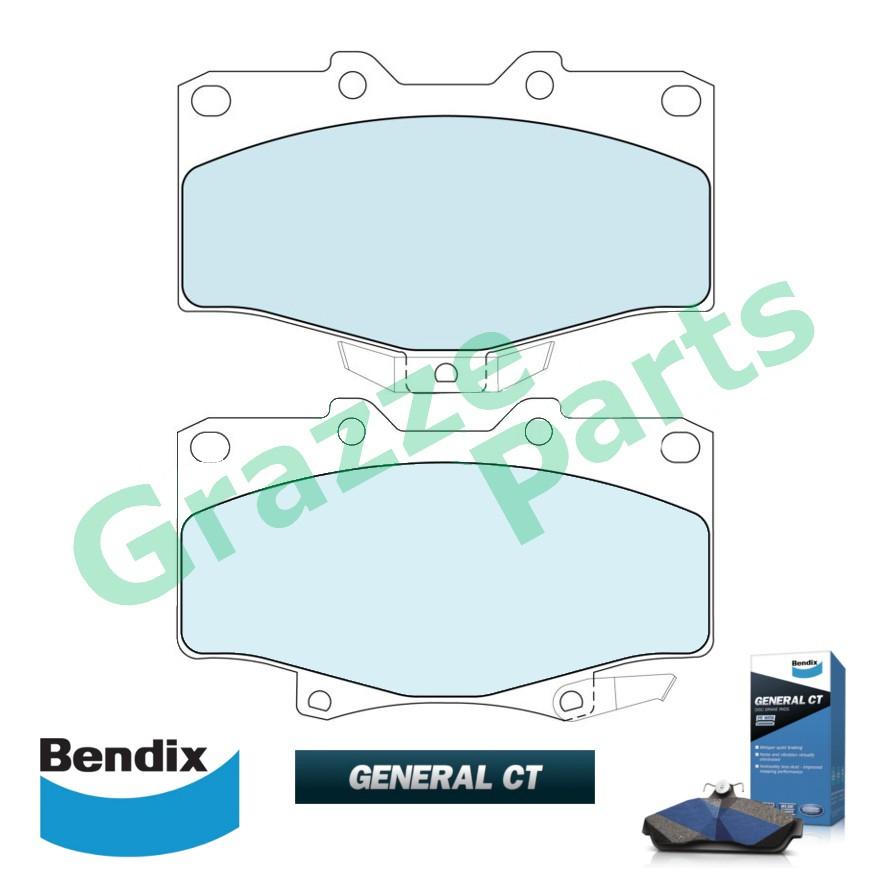 Bendix General CT Disc Brake Pad Front for DB1346 Toyota 4 Runner LN130 NV130 Hilux KZN130G LN130G VN130G