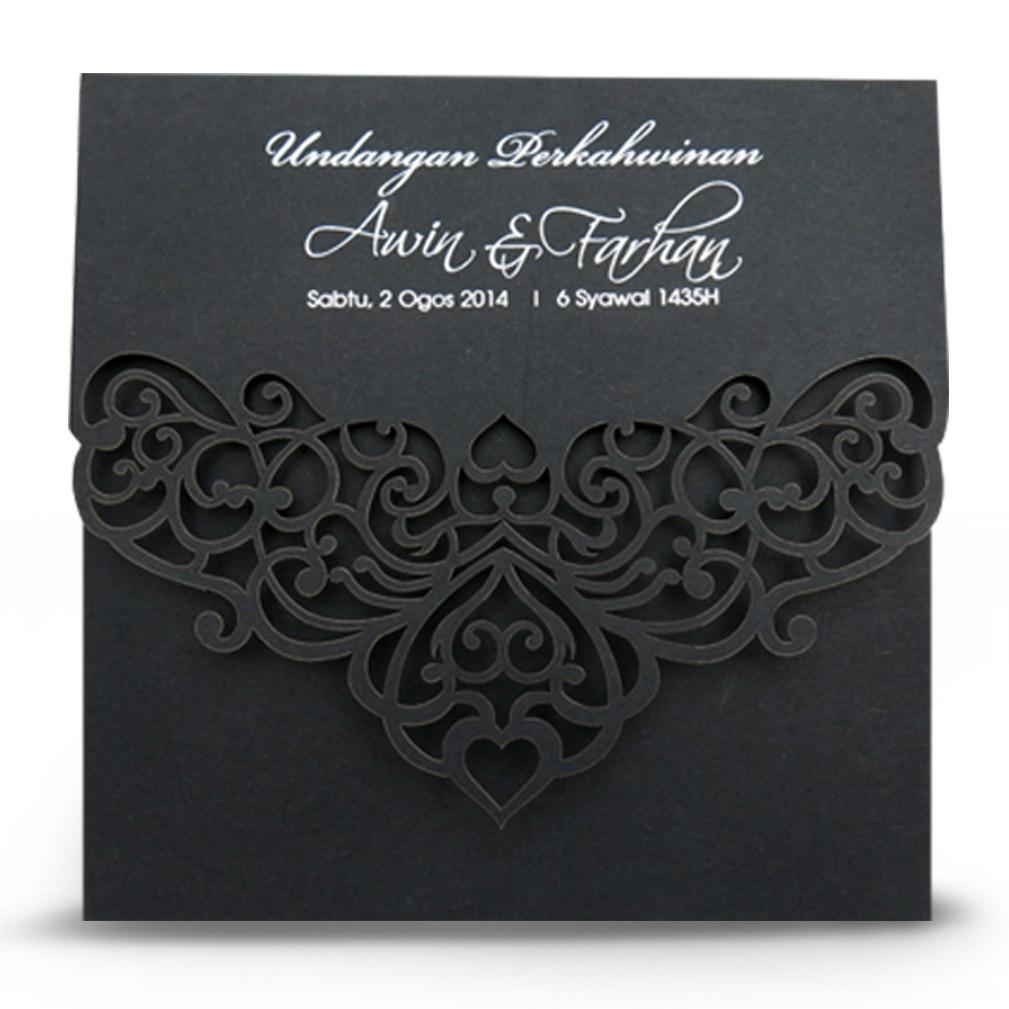 Wedding Card Kad Kahwin Ld04 With Envelope Shopee Malaysia