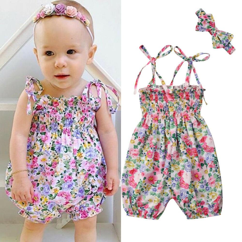 a069420615264 UIA-Newborn Baby Girl Floral Romper Bodysuit Jumpsuit 2PCS Outfits Cute  Sunsuit