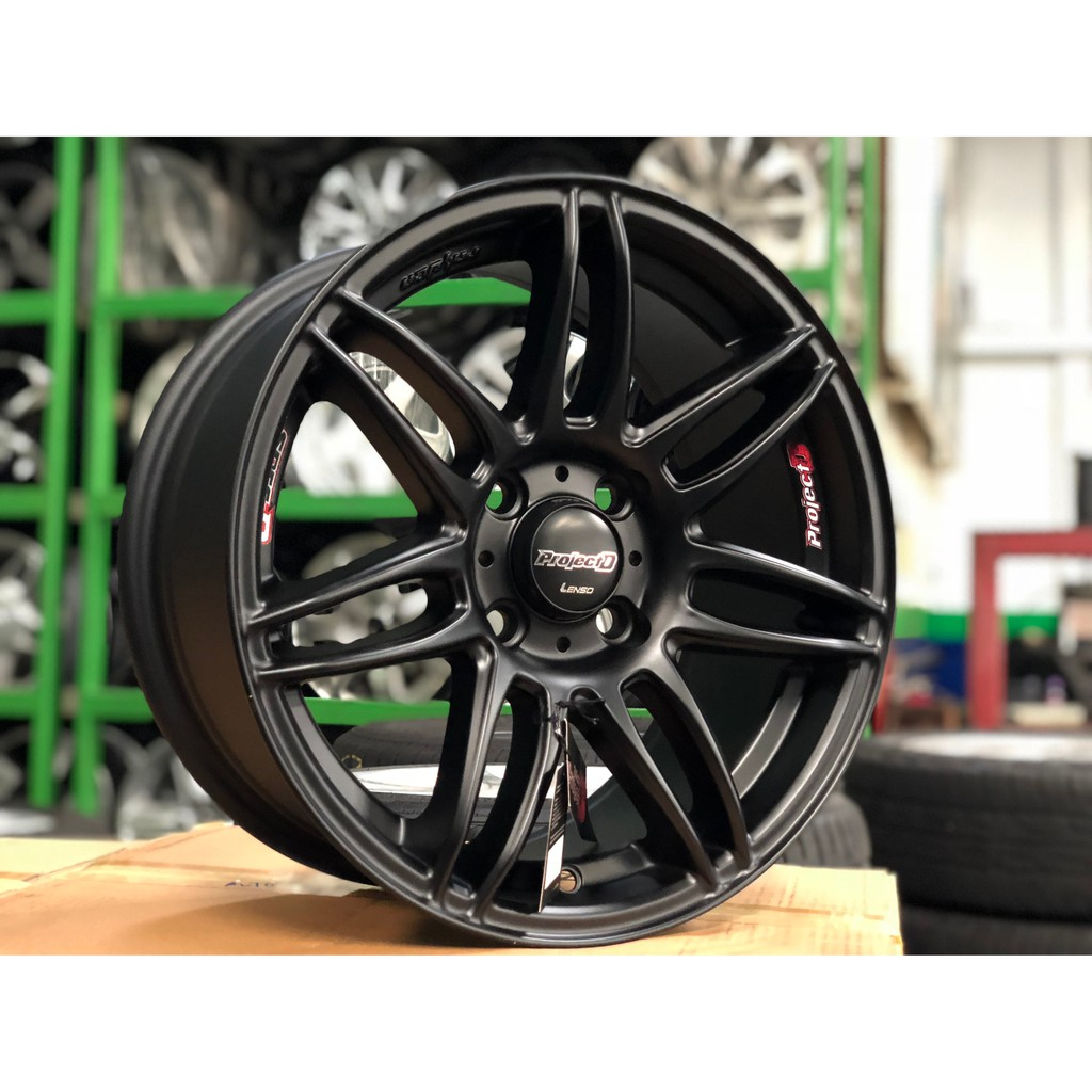 "15"" LENSO PROJECT D SPEC D PDD MATTE BLACK ORIGINAL SPORT"