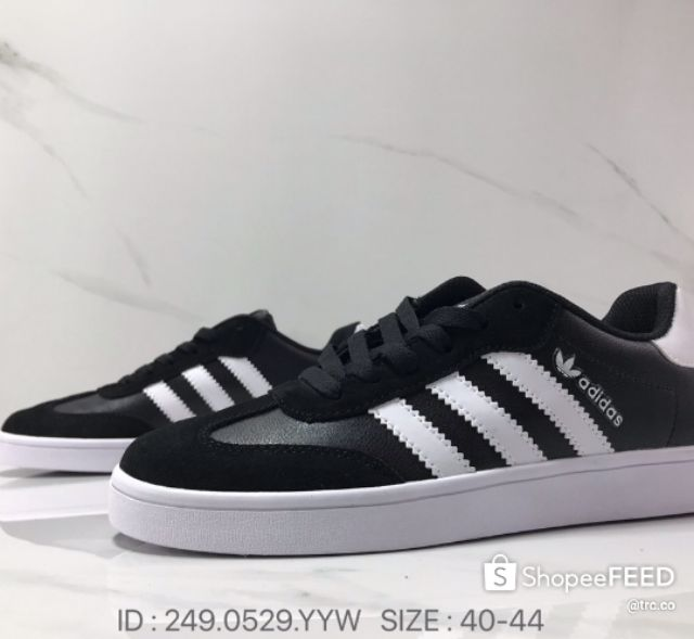 Adidas Vrx Low Men Low Top Casual Shoes Limited Edition Athletic Shoes Lifestyle Fashion Spring - Black white/40-44 Eu