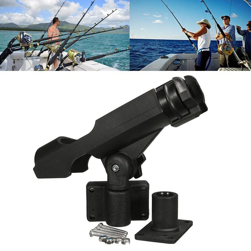 Adjustable Side Rail Mount Kayak Boat Fishing Pole Rod Stand Bracket Holder Rest