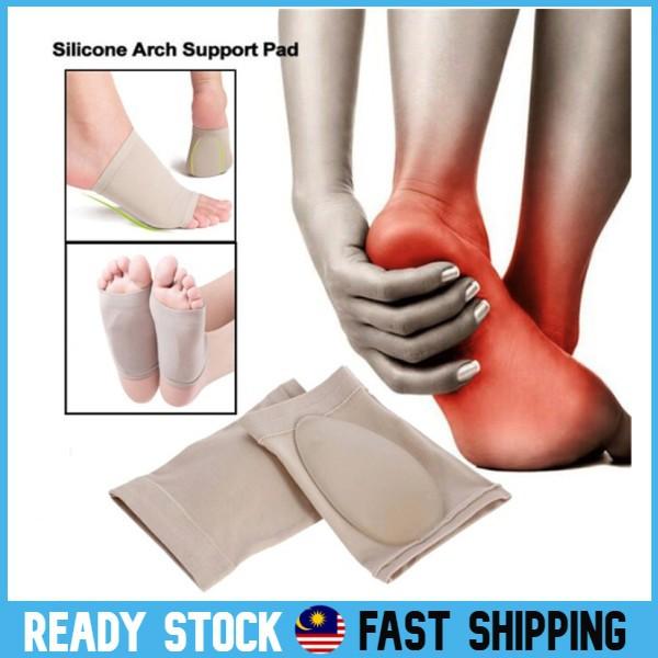 2 Pairs Orthotic Weak Arch Support Plantar Fasciitis Brace Sleeves Flat Feet