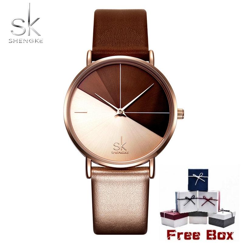 SK Women's Casual Watch Waterproof Leather Quartz Watches K0095