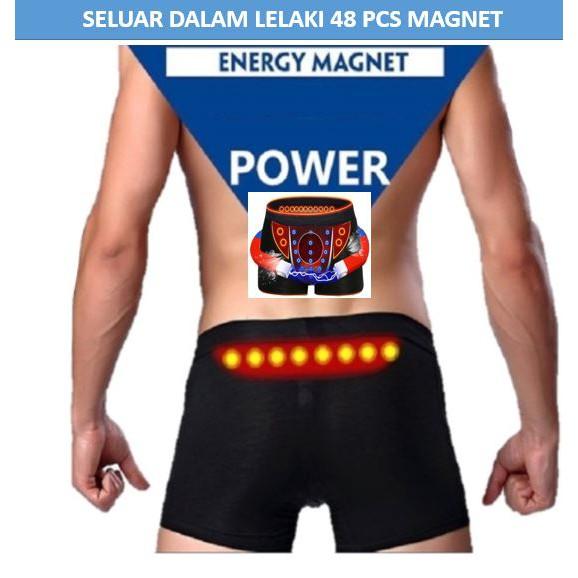 MALAYSIA: L-4XL SELUAR DALAM LELAKI KESIHATAN Magnetic Health Canned Men's Modal Fabric Breathable Underwear