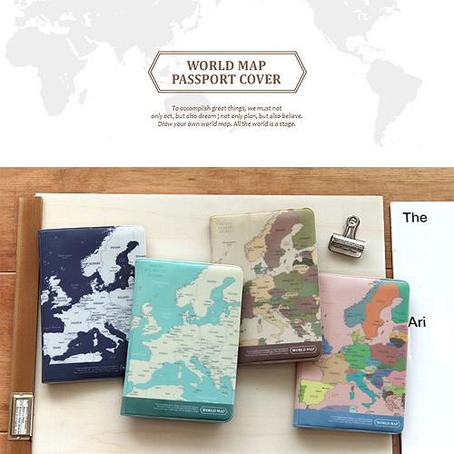 Indigo World Map Passport Cover Shopee Malaysia