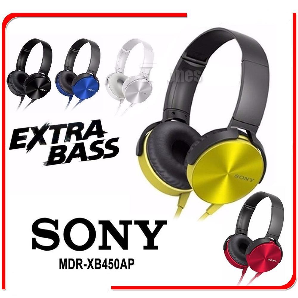 Mdr Xb450ap Extra Bass Stereo Headphone Headset Xb 450 Xb450 Sony Shopee Malaysia