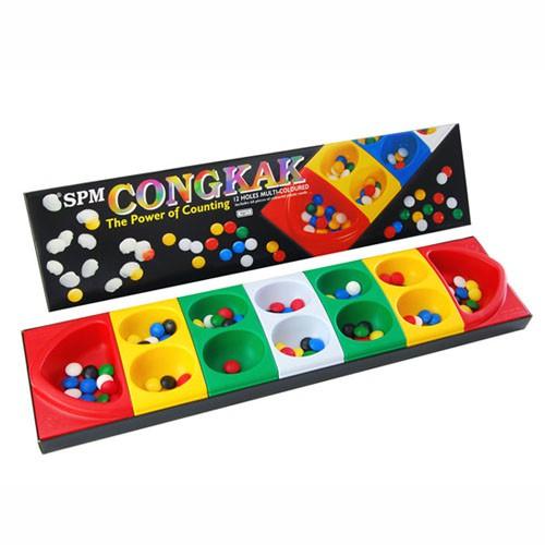 Congkak Junior SPM 105 12 Holes Multi-Coloured (Toy, Game, Boardgames) SPM105