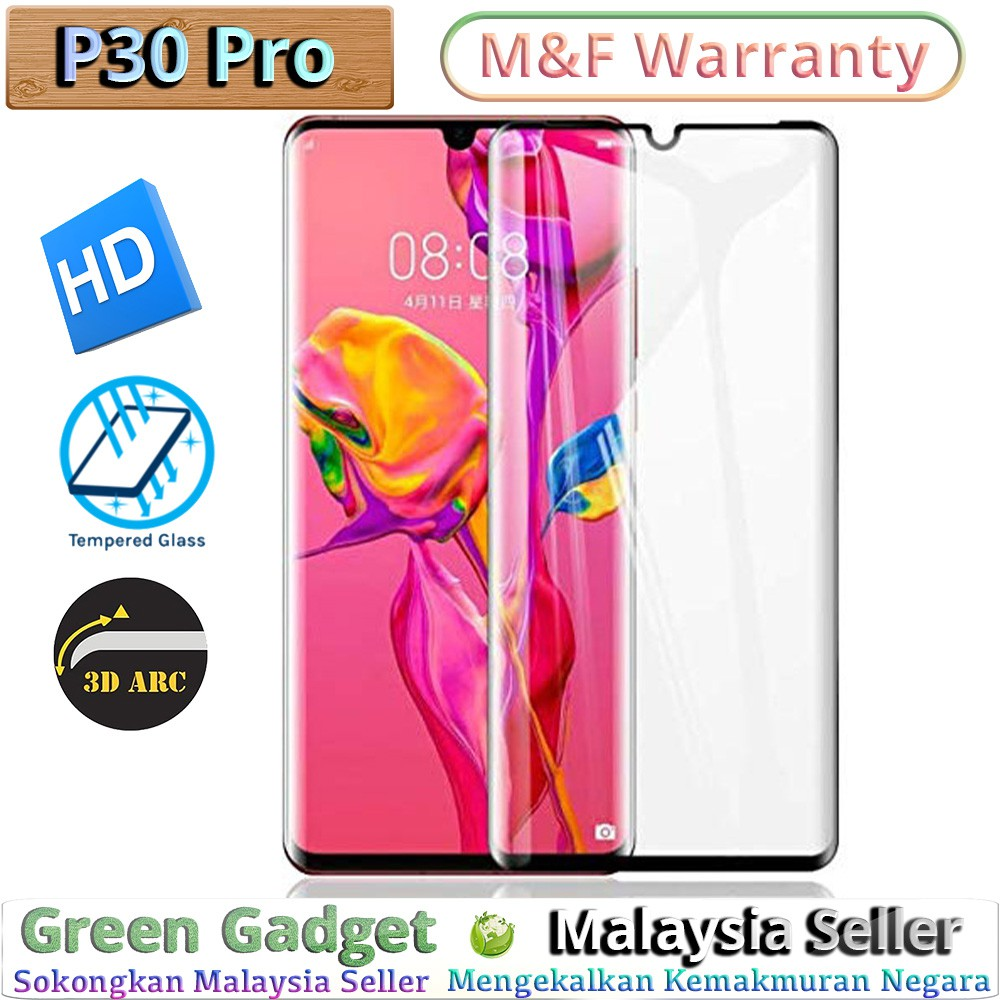 🇲🇾Huawei P30 Pro Full Glue Screen Protector 3D Tempered Glass
