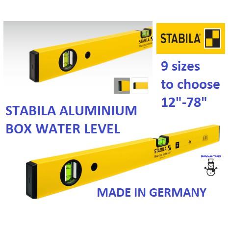 "12"" - 78"" STABILA ALUMINIUM BOX WATER LEVEL BALANCE MEASURER MEASUREMENT MEASURING MADE IN GERMANY Type 70 16'' 24'' 36'"