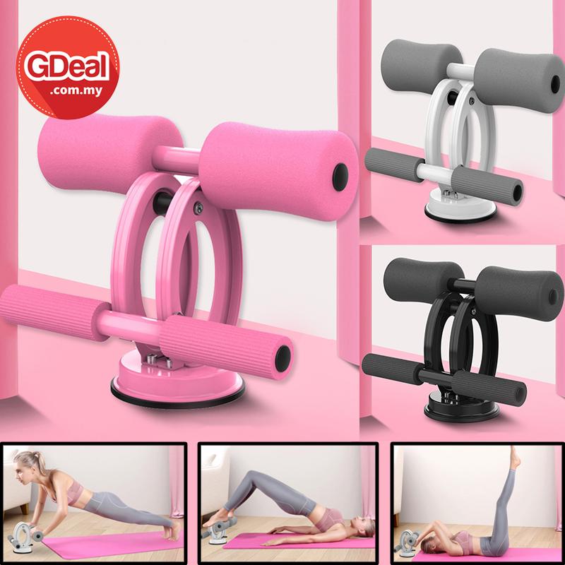 GDeal Gym Muscle Abdomen Training Exercise Fitness Sit Up Aid Double Lump Sit Ups Bar Alat Senaman