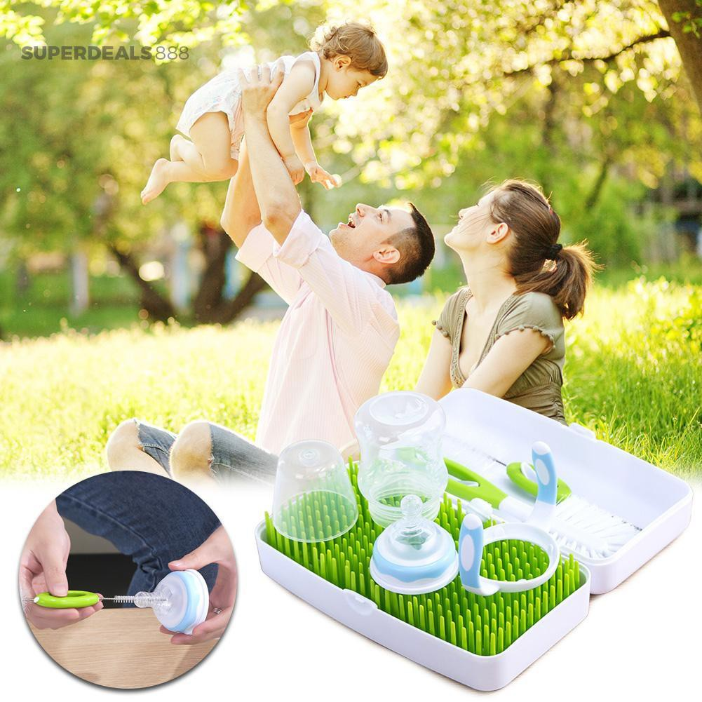 *SuperDeals888*Baby Bottle Drying Rack Food Grade PP Storage Nipple Shelf Dishes Drainer【From China】