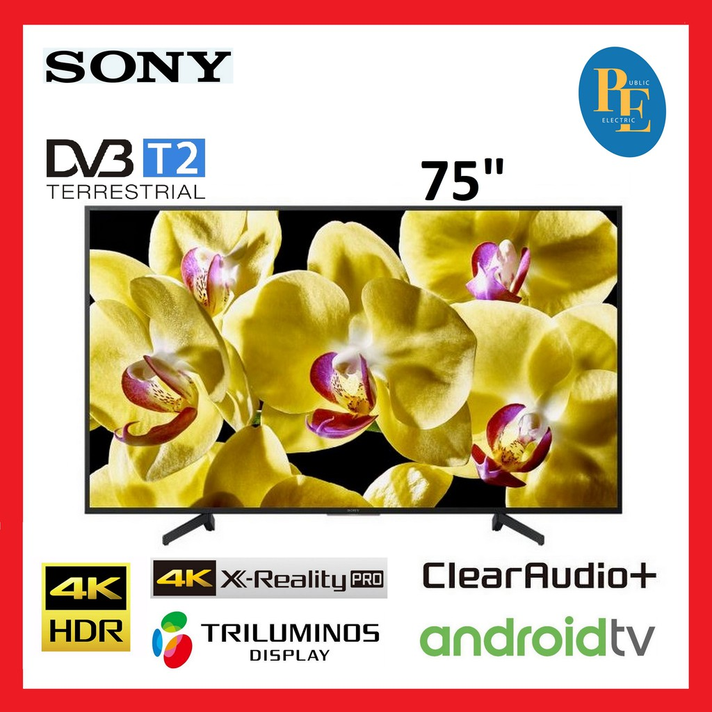 "Sony 75"" X80G Series 4K Ultra HD LED Android TV - KD-75X8000G"