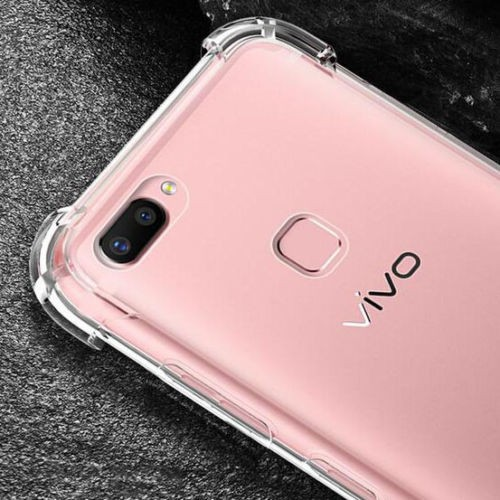 Vivo Y12/Y17, Y21/Y25, Y33, Y51, Y53, Y55, Y65, Y66, Y69, Y71, Y81, Y91  Anti Shock Transparent Case