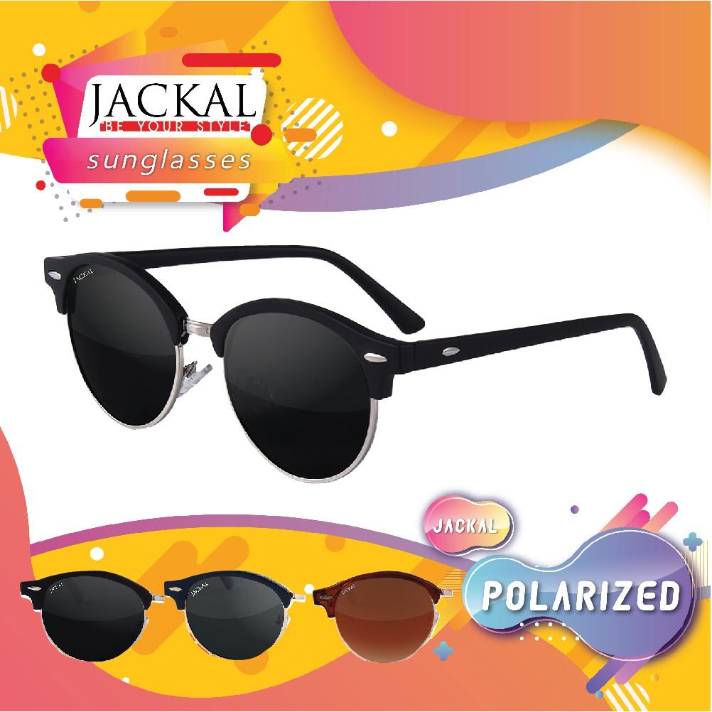 JACKAL SUNGLASSES แว่นตากันแดดรุ่น JSL027 เลนส์โพล