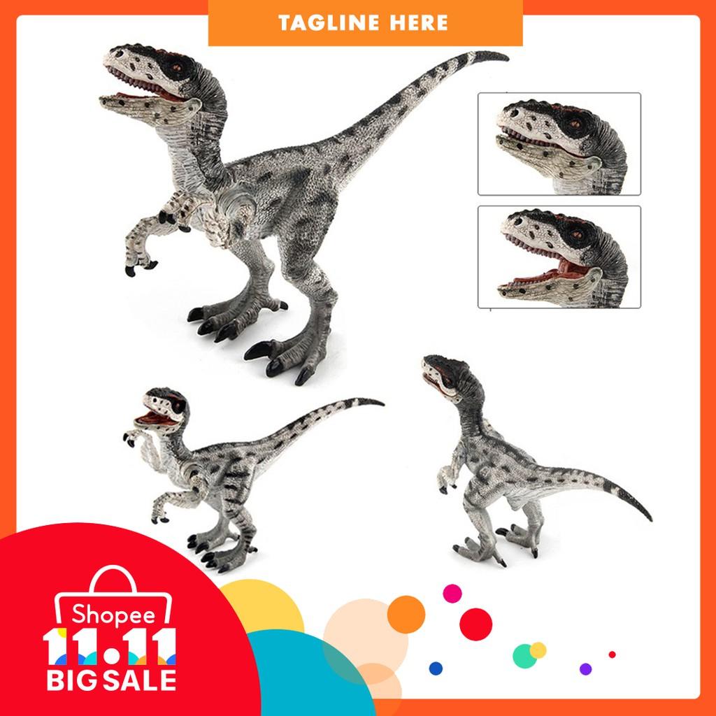 Dinosaur World Simulated Gary Velociraptor Model Figurine Figure Mainan Dinosaurus Dino Toys Kid Gift Shopee Malaysia