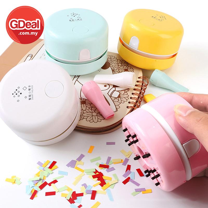 GDeal Mini Desktop Vacuum Cleaner Handheld Cordless Tabletop Vacuum Cleaning Table Dust Cleaner