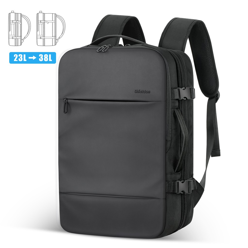 53e33ff6a874 SHIELDON Laptop Backpack, 23L-38L Expandable Anti-Theft Water Repellent  Durable Carry-on Multipurpose Travel Bag