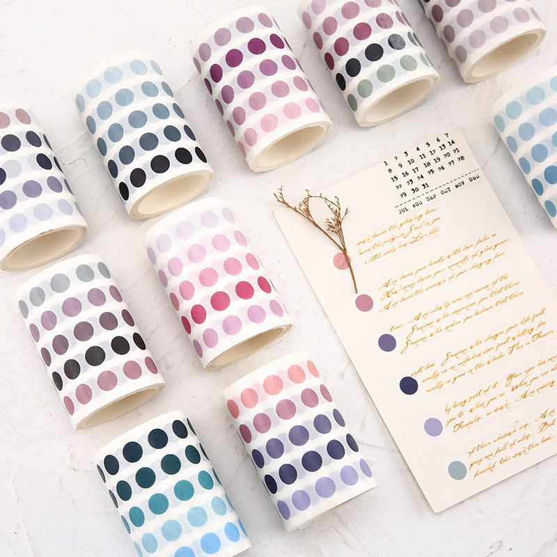 sticky purple pattern Washi tape roll. Decorative