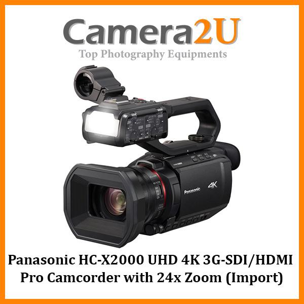 Panasonic HC-X2000 UHD 4K 3G-SDI/HDMI Pro Camcorder with 24x Zoom (Import)