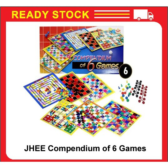 JHEE HT6000 Compendium of 6 Games (Aeroplane,Snake,Football,Ghost Buster,Checkers,Tarzen & Sport