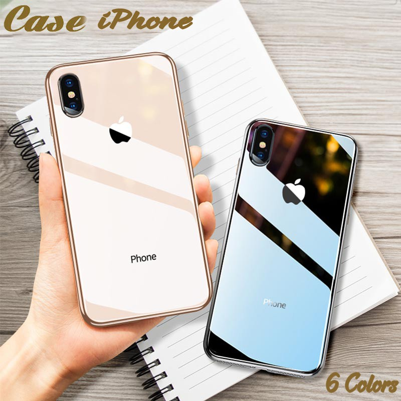 Case Iphone Xs Max Xr X 8 7 6 6s Plus Tempered Glass Mirror Plating Armor Cover