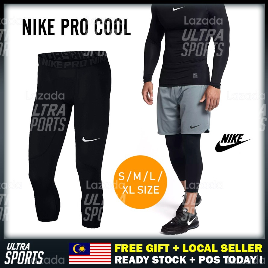 Men/'s Compression 3//4 Tights Dri fit Athletic Base Layers Tight fit Lightweight