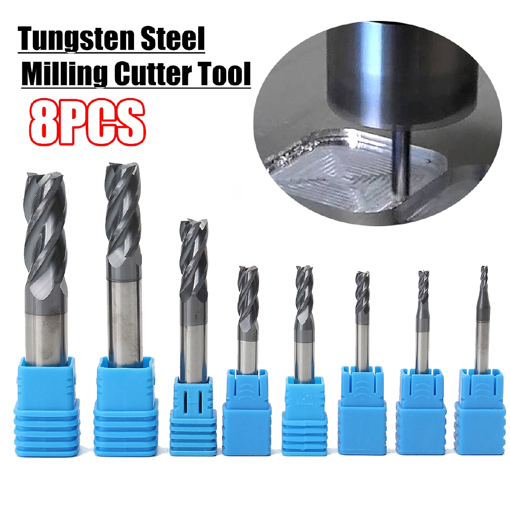 1 Flute Tungsten Carbide Flat Alloy End Mill Cutter 6mm HRC45 Milling Tool Hot