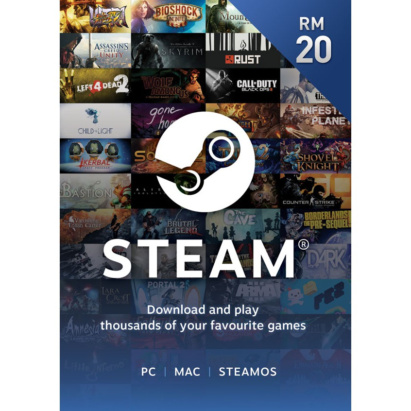 Steam Wallet RM20 Digital Prepaid Code