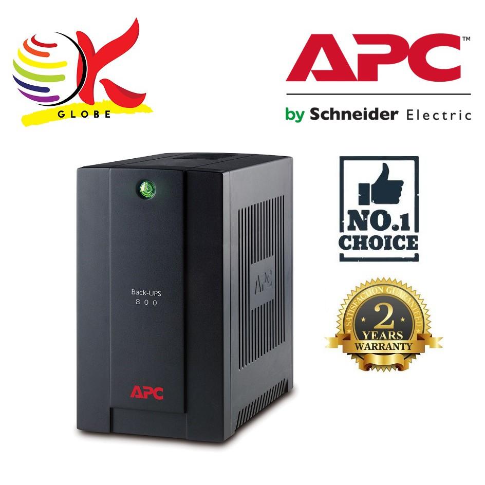APC 800VA UPS BACKUP BATTERY 230V (BX800LI-MS) AVR AVS AUTOMATIC VOLTAGE  STABILIZER REGULATOR 2 UNIVERSAL OUTLETS & IEC