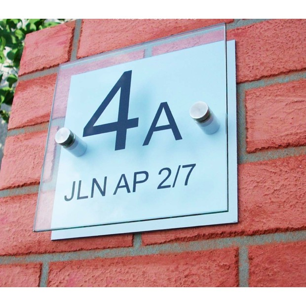 Modern House Number Plate