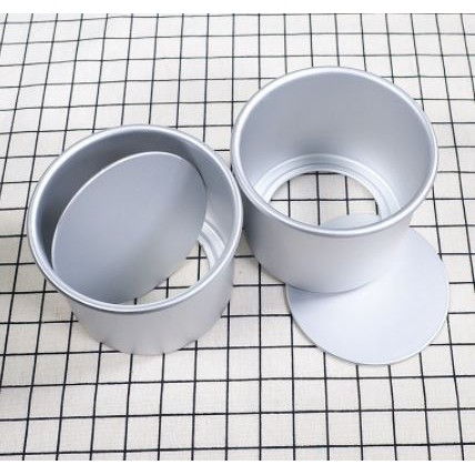 6 / 8 Inch Round Cake Tin with Loose Base 4 inch height / Non-Stick Deep Aluminum Round Cake Pan with Removable Bottom