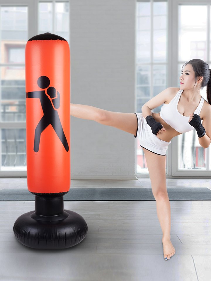Inflatable Punching Boxing Bag Sports Training Exercise Gym Fitness Tool Accessories CL409