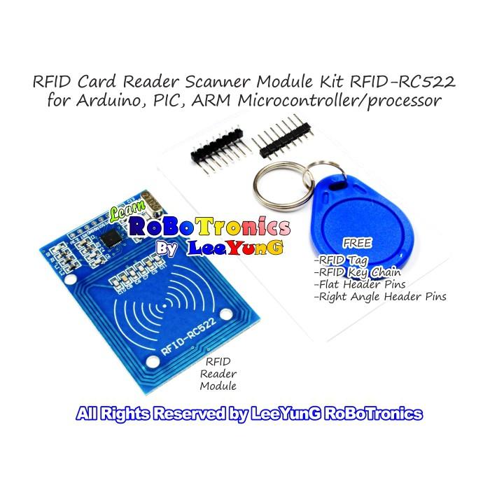 Arduino RFID RC522 Card Reader Detector SPI RFID Module Kit RFID Key DIY