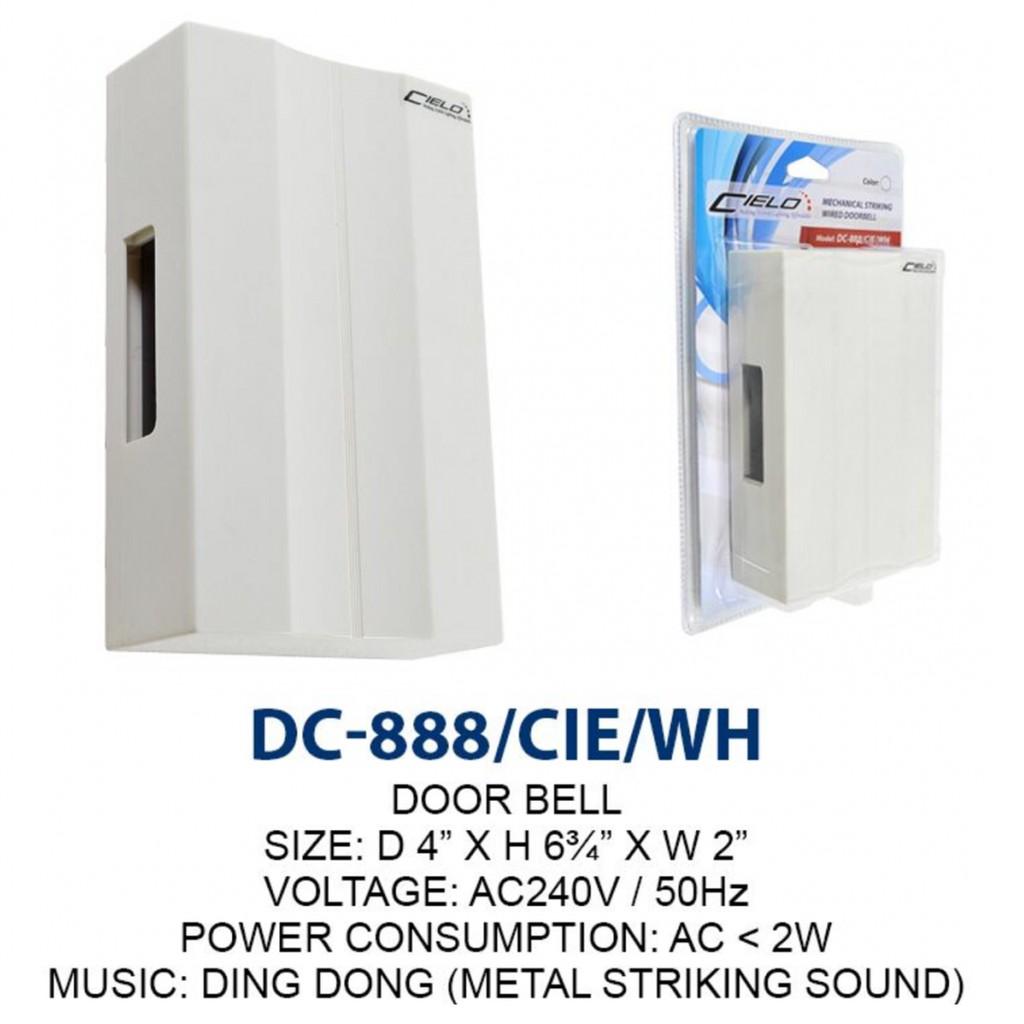 Cielo Dc 888 Cie Mechanical Striking Wired Doorbell Shopee Malaysia