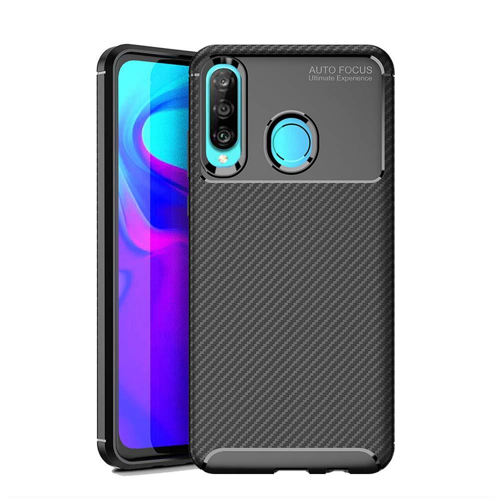 Huawei Nova 4e / P30 Lite Casing Soft Carbon Fiber Silicone Rubber Cover  Case