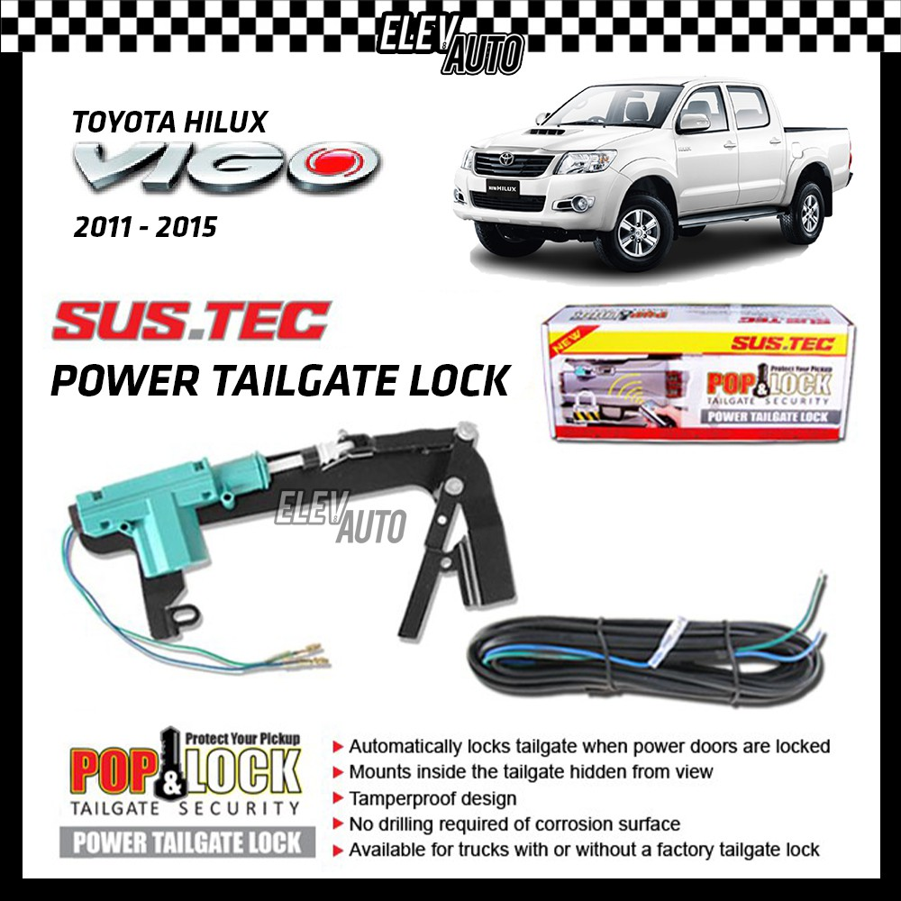 SUSTEC Power Trunk Tailgate Lock Pop & Lock Tail Gate Security Toyota Hilux Vigo 2011-2015