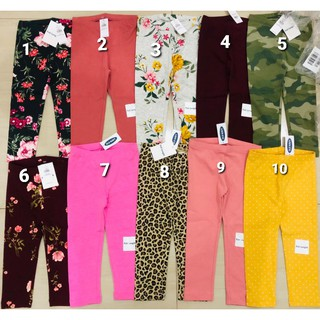 New Arrival No 4 9 Old Navy Printed And Plain Kids Leggings Many Variations In Motifs No 4 9 Shopee Malaysia