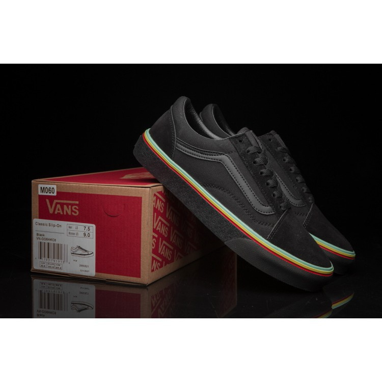 Vans Authentic Skate Shoes - (Rasta) Black   Black  c2d140700